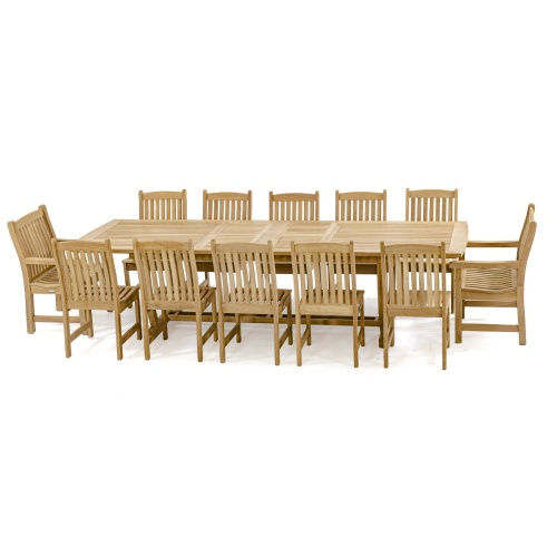 extendable teak wood dining set