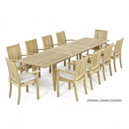 teak dining table 11 foot