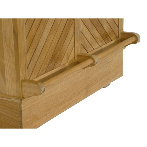 somerset luxury teak wood bar