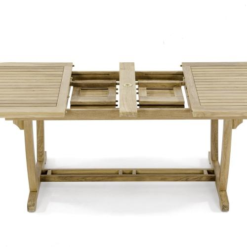 montserrat butterfly extension table teak