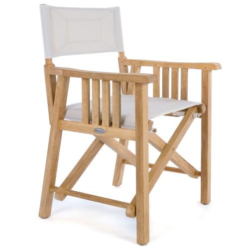 folding teak director chairs