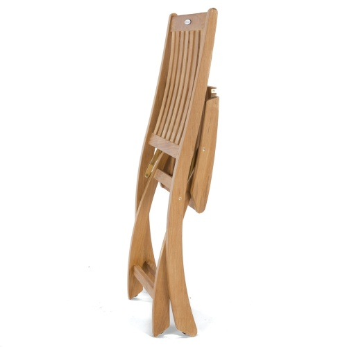 boat folding teak sidechair