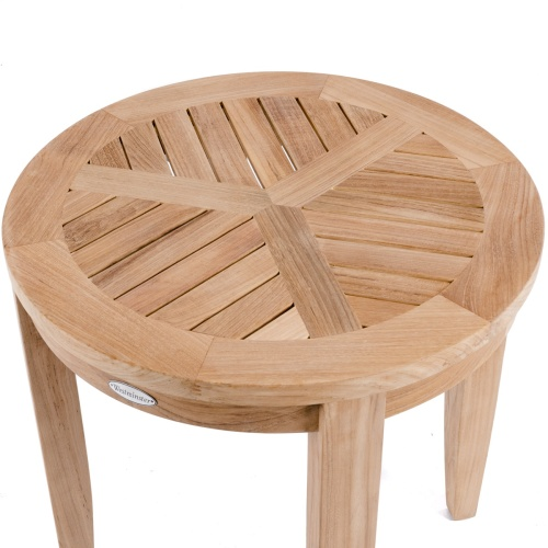 teak chairside table
