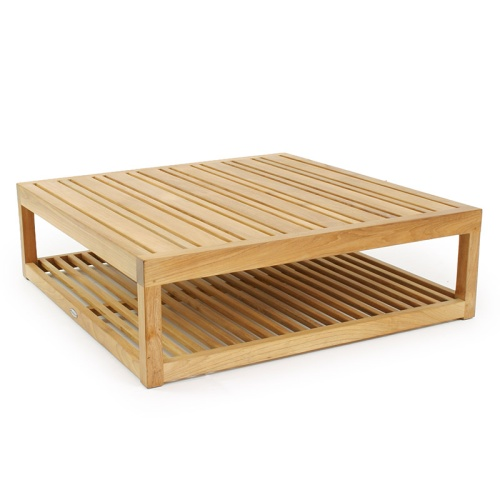 teak square outdoor coffee table