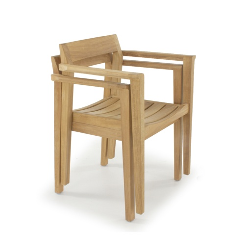 stacking low back bistro armchairs