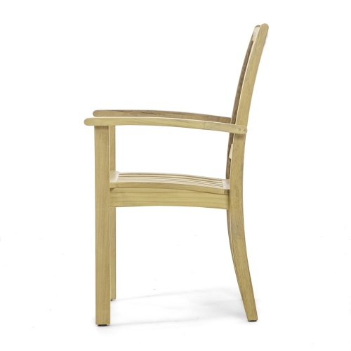 teak stacking dining chairs outdoor