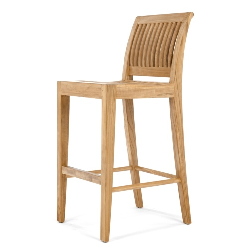 yacht teak wood bar stools