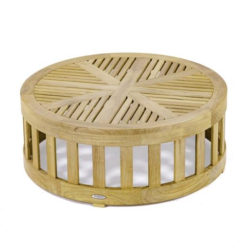 teak wood coffee table deck