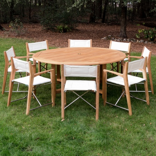 teak table outdoor table round set