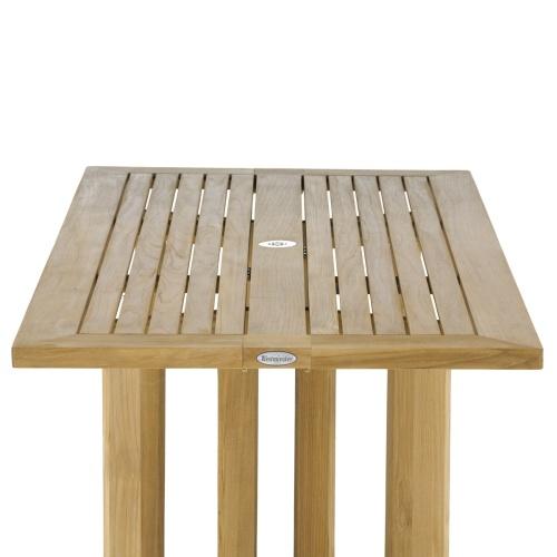 teak garden folding table
