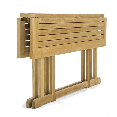 teak folding table home garden