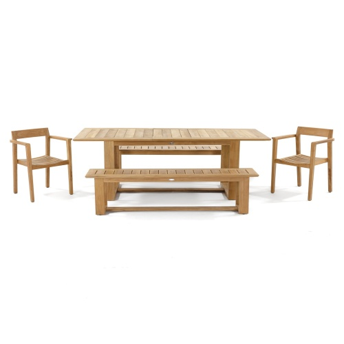 danish style 5pc teak furniture set