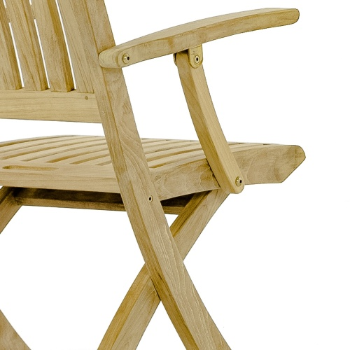 folding teak dining chair for boats