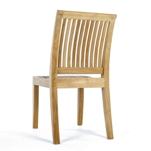 solid teak patio side chair