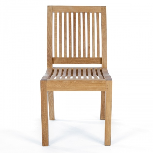 teak side chairs no arms