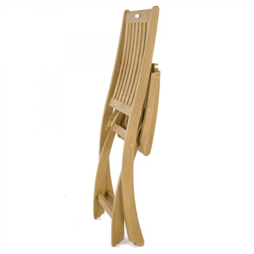 armless stacking teak wood deck chairs