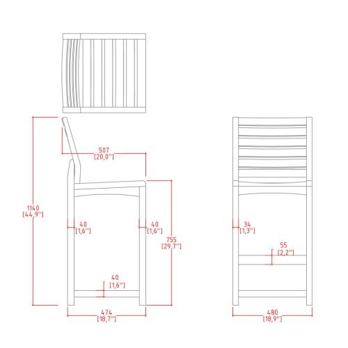 Teakwood Bar Chairs