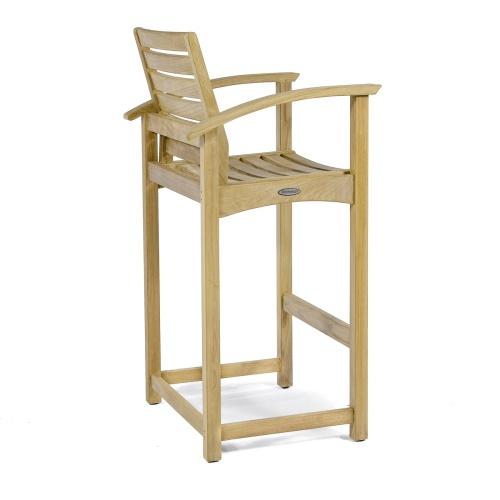 teak yacht bar stools with arms