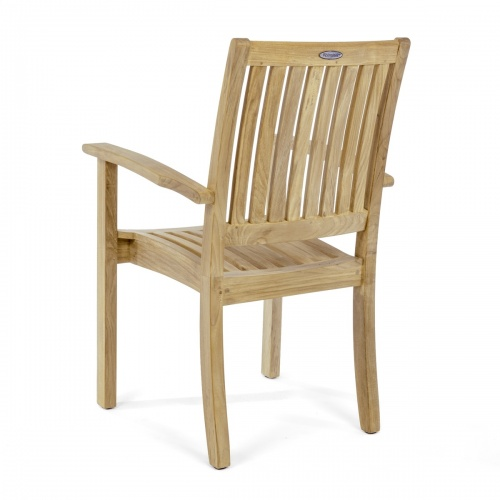 mid century teak arm chairs