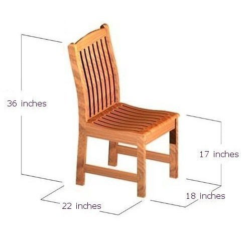 patio wooden sidechair