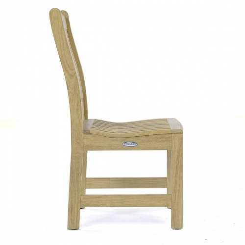 outdoor teakwood side chairs