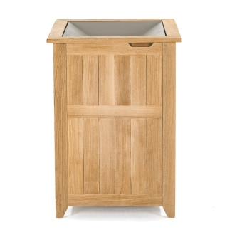 Teak Towel and Laundry Hampers