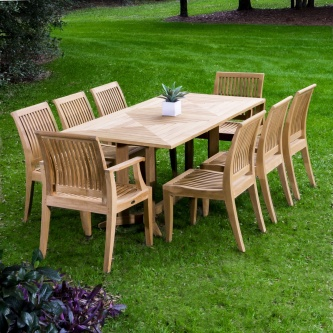 9pc Teak Dining Sets