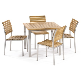 Teak and Stainless Steel Furniture