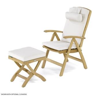 Teak Chair with Ottoman