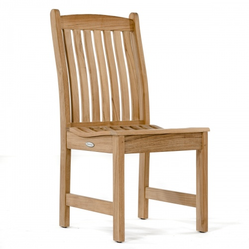 Veranda Teak Wood Dining Side Chair - Picture A
