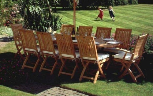 Barbuda Teak Folding Chair - Picture K