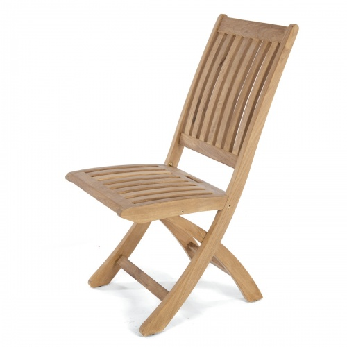 Barbuda Folding Teak Dining Chair Refurbished - Picture A