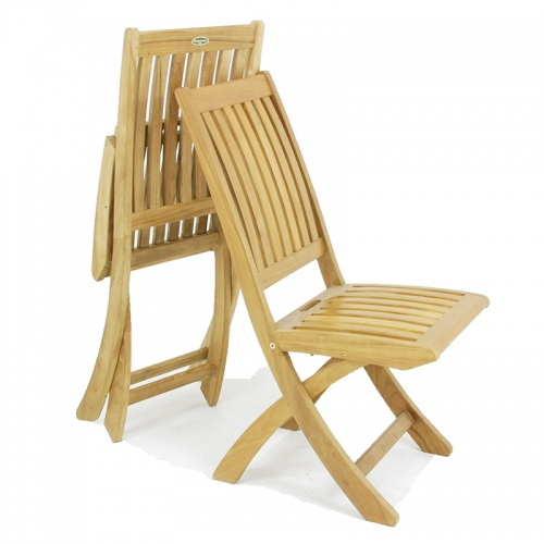 Barbuda Folding Teak Dining Chair - Picture B