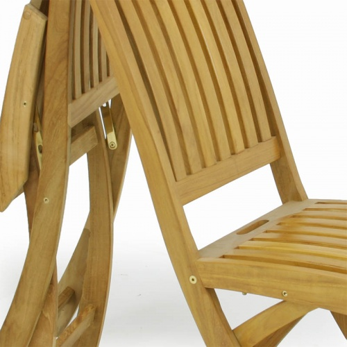 Barbuda Folding Teak Dining Chair - Picture D