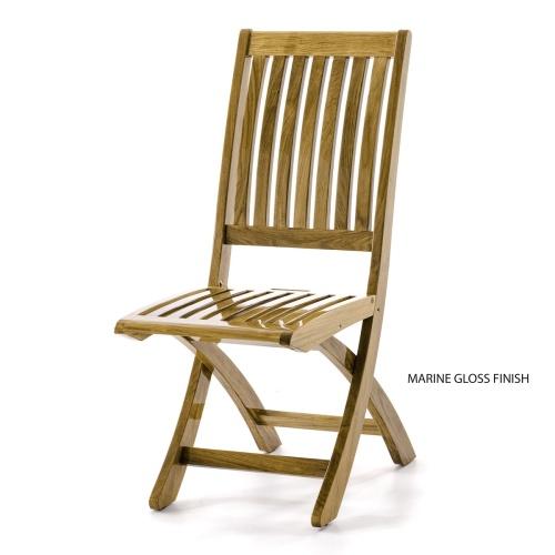 Barbuda Teak Folding Chair - Picture B