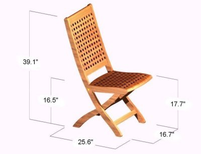Chequered Side Chair - Picture D
