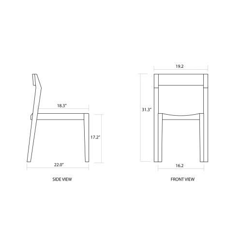 Set of 4 Horizon Stacking Sidechairs - Picture F