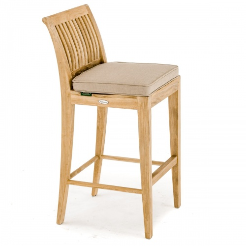Laguna Teak Outdoor Bar Stool - Picture B