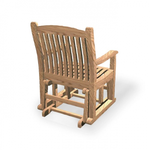 Teak Wave Glider Chair Clearance - Picture B