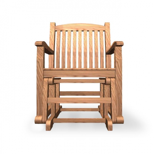 Teak Wave Glider Chair Clearance - Picture C