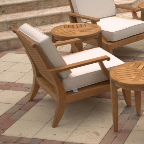 Deep Seating Teak Armchair - Picture D
