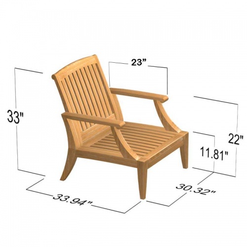 Deep Seating Teak Armchair - Picture E