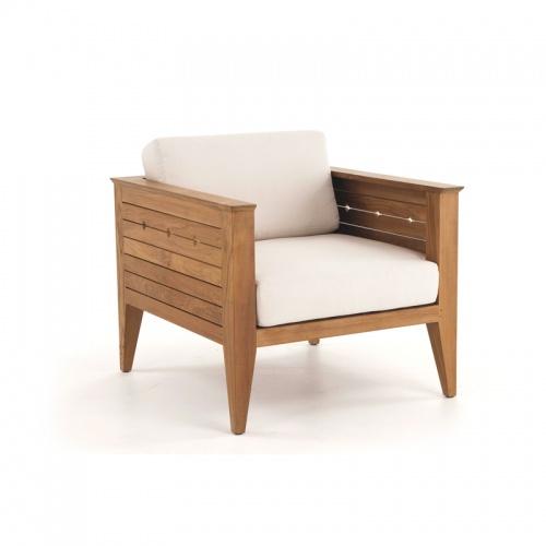 teak lounge chairs outdoors
