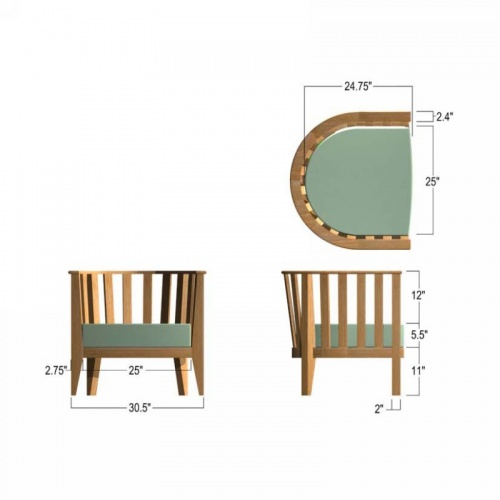 Kafelonia Chair Frame - Picture M