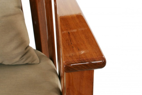 teak wood armchairs