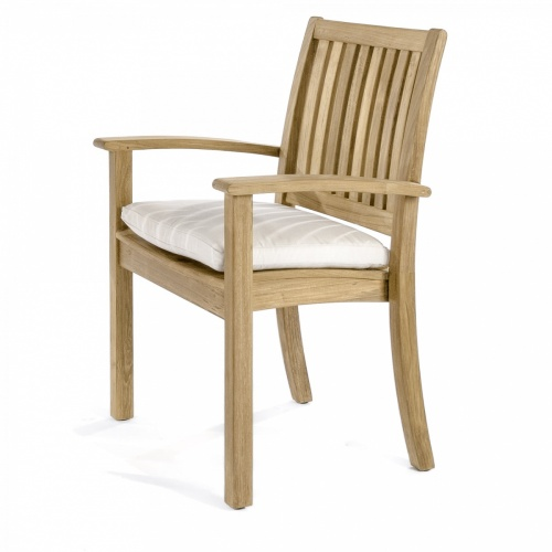 outdoor teak stacking chairs