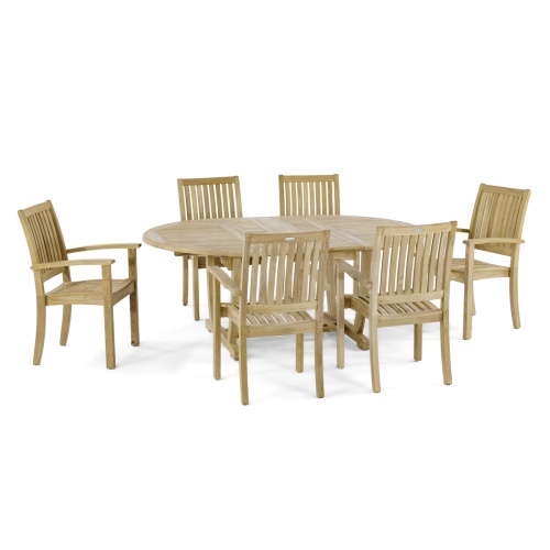 Sussex Teak Stacking Chair - Picture I