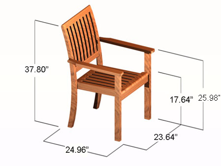 Sussex Stacking Armchair - Picture D