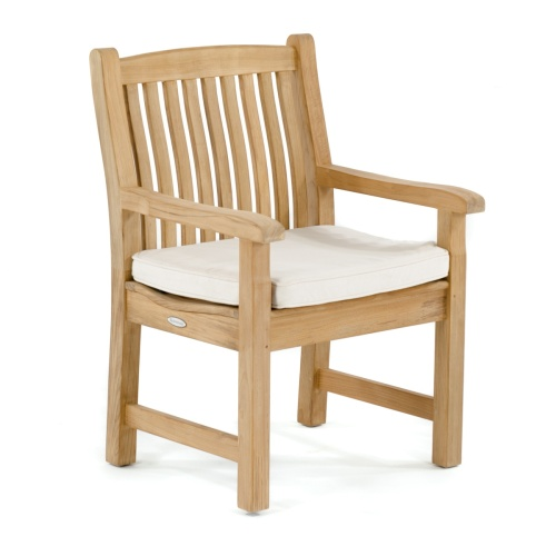 teak lumbar support armchairs
