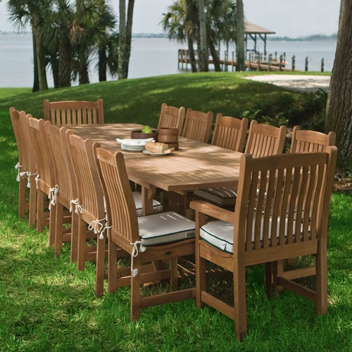 teak dining chairs with arms